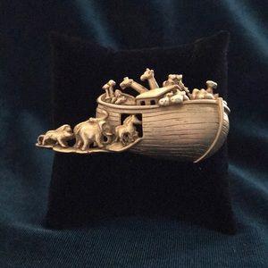 AJC vintage Noah's Ark brooch